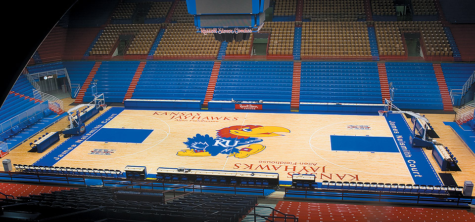 Kansas University Allen Fieldhouse Floor
